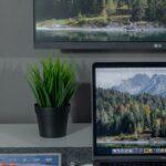 macbook and tv